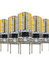 3W G8 Luminarias de LED  Duplo-Pin T 64 SMD 3014 200-300 lm Branco Quente Regulavel Decorativa V 5 pcs