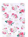 Pour apple ipad mini 4 3 2 1 couverture de boitier carte de motif de fleur stent pu materiel coquille de protection plate