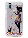 For Huawei P9 Lite P8 Lite Case Cover Girl Pattern Painted High Penetration TPU Material IMD Process Soft Case Phone Case Y5 II Y6 II