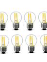3.5 E14 E27 Ampoules a Filament LED G45 4 COB 300 lm Blanc Chaud Decorative AC220 AC230 AC240 V 8 pieces