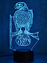 חג המולד עיטום מגע עמעום 3D הוביל לילה אור 7 צבעוני קישוט האווירה המנורה החידוש תאורה חג המולד אור