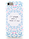 For Apple iPhone 7 7 Plus Case Cover Pattern Back Cover Case Word / Phrase Soft TPU 6s Plus  6 Plus  6s 6