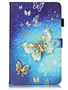 For Samsung Galaxy Tab S2 9.7 Tab E 9.6 Card Holder Wallet with Stand Flip Pattern Case Full Body Case Butterfly Hard PU Leather Tab A 9.7 Tab A 10.1