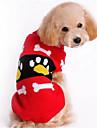 Собаки Свитера Одежда для собак Зима Мультфильмы Мода На каждый день Красный Розовый