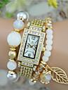 Women\'s Fashion Watch Bracelet Watch Quartz Plastic Band Bangle