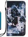 용 지갑 카드 홀더 스탠드 플립 패턴 케이스 풀 바디 케이스 해골 하드 인조 가죽 용 Samsung A3 (2017) A5 (2017) A5(2016) A3(2016)