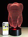 Зубы типа 3D Светодиодные лампы зубы творческий подарок красочный 3d зуб градиент свет стоматологическая клиника художественные изделия