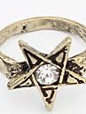 Euramerican Rhinestone Vintage Temperament Couple\'s Daily Star Ring Movie Jewelry