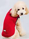 Коты / Собаки Свитера Красный / Синий Одежда для собак Зима Однотонный Сохраняет тепло