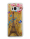 For Samsung Galaxy S8 Plus S8 Phone Case Tower Pattern Flowing Liquid Glitter Soft TPU Materia S7 edge S7 S6 edge S6 S5