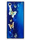 Sony xperia xa1 xz housse de protection papillon motif peint en relief feel tpu soft case telephone cas