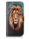 For Apple iPhone 7 7 Plus 6S 6 Plus SE 5S 5 Case Cover Lion Pattern Shine Relief PU Material Card Stent Wallet Phone Case
