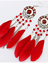 Women\'s Drop Earrings Hoop Earrings Jewelry Basic Unique Design Logo Style Dangling Style Pendant Tassel Geometric Friendship Luxury
