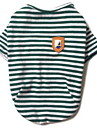 Dog Shirt / T-Shirt Dog Clothes Casual/Daily Stripe Black Ruby Green