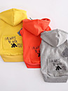 Dog Hoodie Dog Clothes Casual/Daily Sports Cartoon Orange Gray Yellow