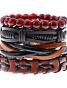 Femme Homme Bracelets en cuir Mode Cuir Forme Geometrique Bijoux Pour Mariage Soiree Sports 1pc