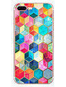 Para iPhone X iPhone 8 Case Tampa Estampada Capa Traseira Capinha Estampa Geometrica Macia PUT para Apple iPhone X iPhone 8 Plus iPhone 8