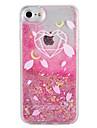 Cas pour apple iphone 7 7 plus coeur motif geometrique brillant brillant fluide liquide modele pc dur 6s plus 6 plus 6s 6