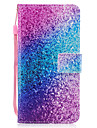 For Apple iPhone 7 7 Plus 6S 6 Plus SE 5S 5 Case Cover Rainbow Sand Pattern Painted PU Skin Material Card Stent Wallet Phone Case