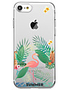For iPhone 7 Plus 7 Case Cover Transparent Pattern Back Cover Case Flamingo Soft TPU for iPhone 6s Plus 6s 6 Plus 6 5s 5 SE