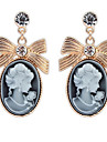Euramerican Fashion Elegant  Bowknot  Lady Stud Earrings Women\'s Daily Movie Jewelry