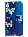 huawei p10에 대 한 p9 라이트 케이스 커버 나비 패턴 pu 소재 카드 스텐 트 지갑 전화 케이스 갤럭시 6 x y5ii p8 라이트 (2017)