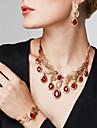 Femme Set de Bijoux Bracelet Bague Mode Bijoux Fantaisie Bijoux de Luxe bijoux de fantaisie Strass 18K or Goutte Boucles d\'oreille