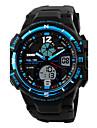 SKMEI Муж. Спортивные часы электронные часы Цифровой Календарь Защита от влаги С двумя часовыми поясами тревога PU Группа Cool Черный