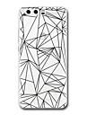 Para huawei p10 p9 capa capa transparente padrao tampa traseira caso padrao geometrico soft tpu para huawei p10 plus p9 lite p9 plus p8 p8
