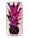 Case For IPhone 7 7Plus 6S 6 6Plus 6S Plus SE 5S 5 Case Cover Pineapple Pattern High Transparent TPU Material IMD Craft Chiffon Phone Case