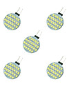 2.5W LED a Double Broches 24 SMD 2835 189 lm Blanc Chaud Blanc DC 12 V 5 pieces