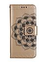 Caso para samsung galaxy s8 s8 mais capa capa metade padrao de flores brilhante em relevo pu material de pele cartao caso de telefone