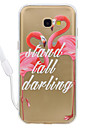 Case For Samsung Galaxy A5(2017) A3 (2017) Flamingo Pattern Acrylic Backplane and TPU Edge Materia Neck Lanyard A510 A310