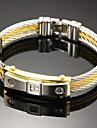 Homme Bracelets Rigides Gothique bijoux de fantaisie Mode Pierre Acier inoxydable Forme Ronde Bijoux Pour Soiree Anniversaire Fete/Soiree