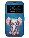 Case For Samsung Galaxy A5(2017) A3(2017) Cartoon Elephant Pattern Window Clamshell PU Leather Case with Stand and Card Slot