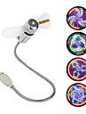 USB Mini Fan LED Fan with 64 Colorful LED Patterns Circular Display
