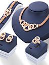 Women\'s Stud Earrings Necklace Bracelet Rhinestone Fashion Costume Jewelry Alloy Circle For Wedding Wedding Gifts