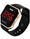 SKMEI Men\'s Sport Watch Digital Watch Digital LED Calendar Water Resistant / Water Proof PU Band Black White Pink