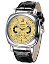남성용 스포츠 시계 드레스 시계 스마트 시계 패션 시계 손목 시계 독특한 창조적 인 시계 중국어 달력 방수 큰 다이얼 천연 가죽 밴드 참 멋진 창의적 멀티컬러