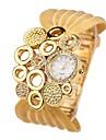 Mulheres Relogio de Moda Quartzo Lega Banda Casual Prata Dourada