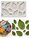 Rose Leaf Leaves Fondant Cake Silicone Molds Flower Cupcake Decorating Mould Baking Tools Random Color