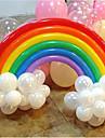 balao do arco-iris conjunto aniversario decoracao do casamento festa (20 longa balao, 16 balao rodada, cor aleatoria)