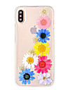 Pour iPhone X iPhone 8 iPhone 8 Plus Etuis coque Ultrafine Transparente Motif Coque Arriere Coque Fleur Flexible PUT pour Apple iPhone X