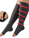 1 pedaco de meias de compressao ziper de perna de apoio joelho meias abertas dedo do pe