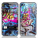 Scrawl Design-Front-und Back-Schirm-Schutz-Film für iPhone 4/4S