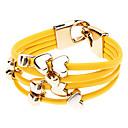 Mehrreihiges PU Armband mit Herz-Charms