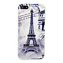 Vintage Eiffel Tower Triumphal Arch Pattern Hard Case for iPhone 5/5S