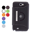 360 Degree Rotatable Protective PU Case for Samsung Galaxy Note 2 N7100 (Assorted Colors)