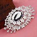 Women's  Silver Plated Eye Pattern Flower Brooch