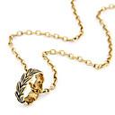 Vintage Leaf Ring Pendant Necklace(Assorted Color)
